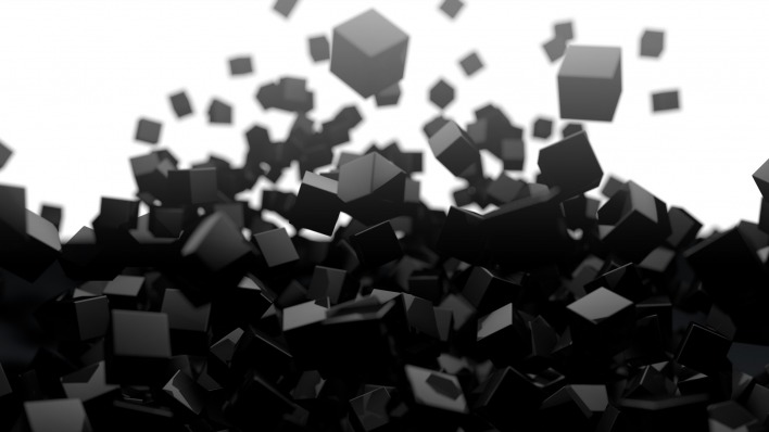 графика абстракция 3D куб graphics abstraction cube