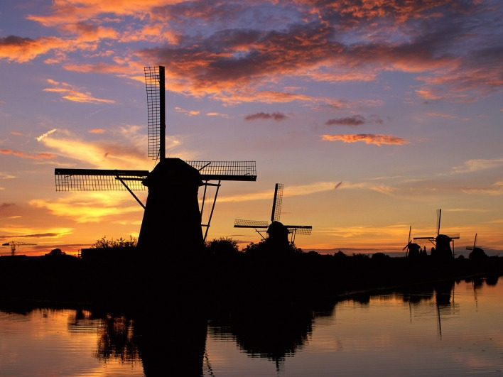 Windmills Reflected, Kinderdijk, Netherlands