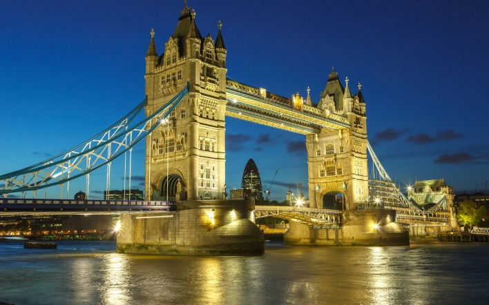 лондон мост темза London the bridge Thames