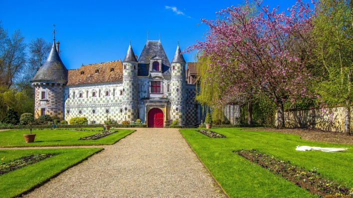 chateau saint-germain-de-livet страны архитектура