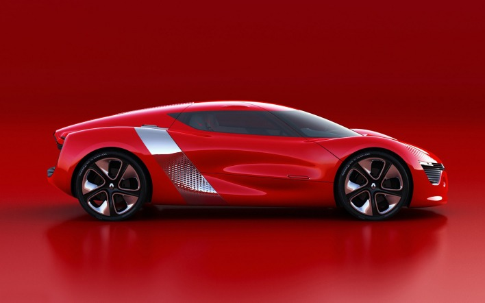 Concept red car