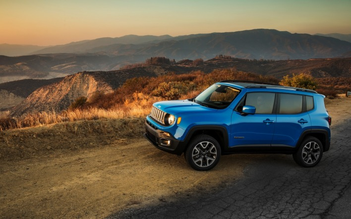 джип синий автомобиль jeep renegade