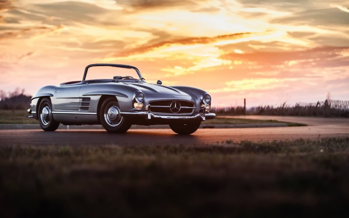 Mercedes-Benz 300 sl закат
