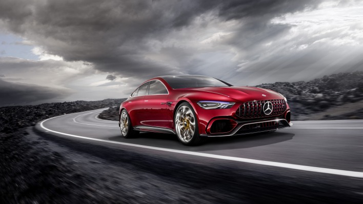Mercedes-AMG GT Concept дорога мрак