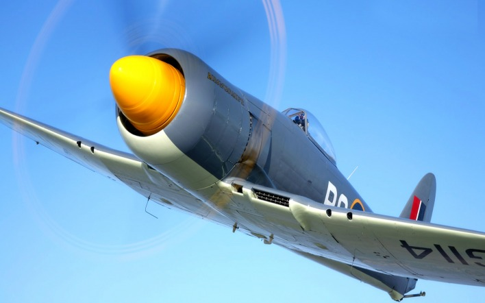 самолет авиация Hawker Sea Fury