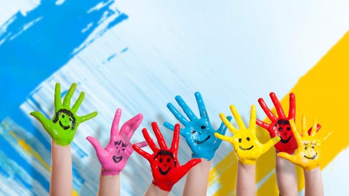 Картинки по запросу детские руки в краске