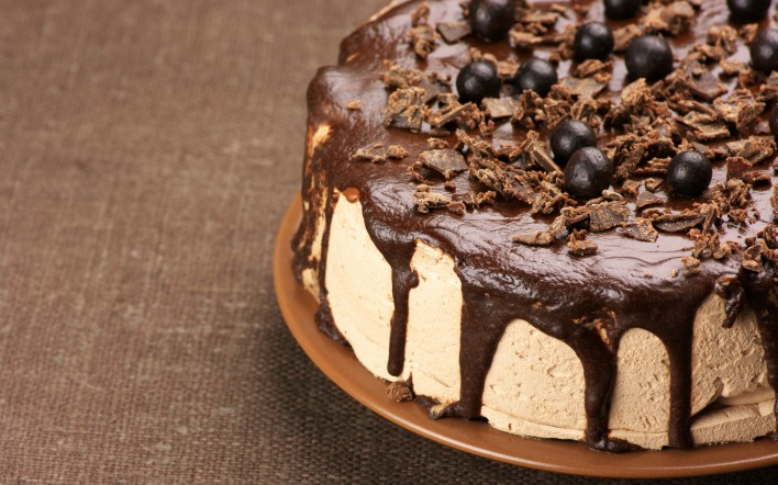 Торт шоколадный с шоколадом фото