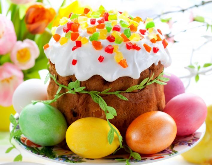 Обои праздник, пасха, кулич, яйца, скачать обои, фото и картинки бесплатно