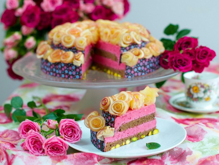 еда торт цветы food cake the flowers