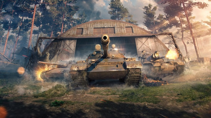 танки world of tanks ангар