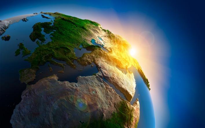 Картинка утро планеты земля