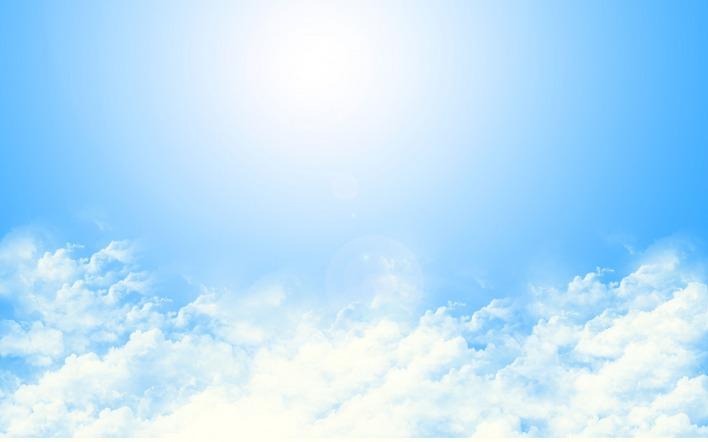 Картинка облака небо солнце
