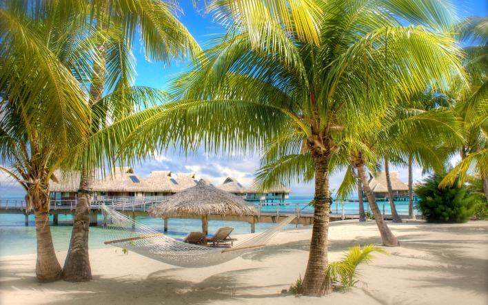 картинки на рабочий стол море пляж пальмы № 258610 бесплатно