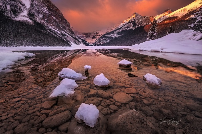 природа река горы снег nature river mountains snow