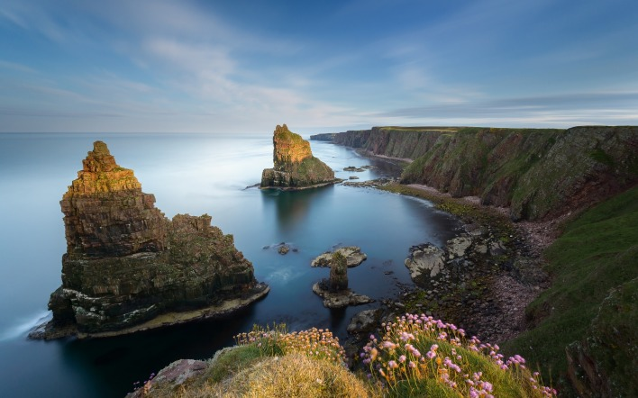 природа скалы море горизонт трава nature rock sea horizon grass