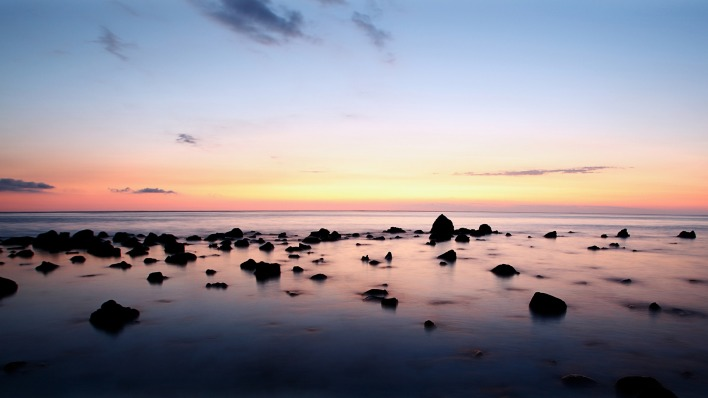 природа море горизонт камни nature sea horizon stones