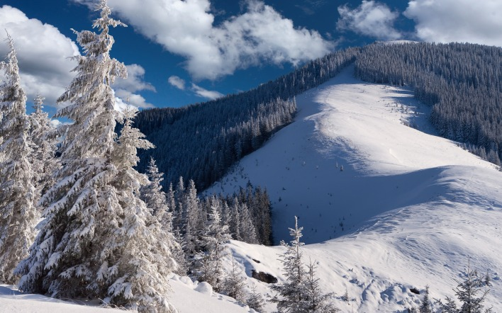склон гора снег зима the slope mountain snow winter