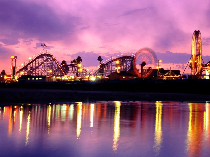 Summer Twilight, Santa Cruz Beach Boardwalk, California