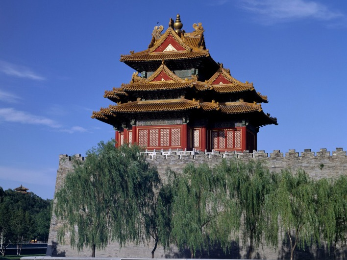 West Watchtower of the Forbidden City (Palace Museum), Beijing, China