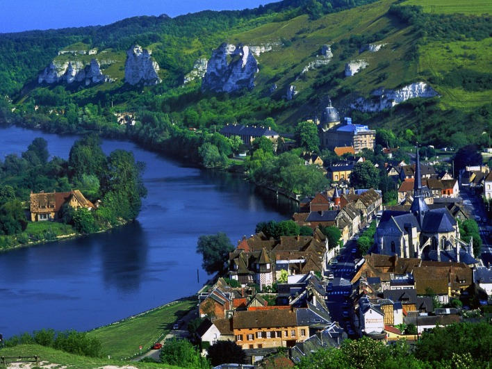 River Seine, Les Andelys, France
