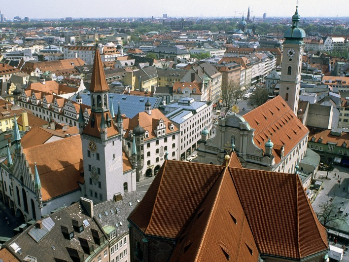 Heiliggeistkirche and Old Town Hall, Munich, Germany
