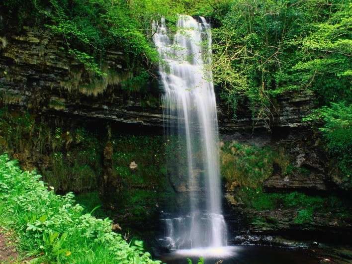 Glencar Waterfall, County Leitrim, Connaught, Ireland