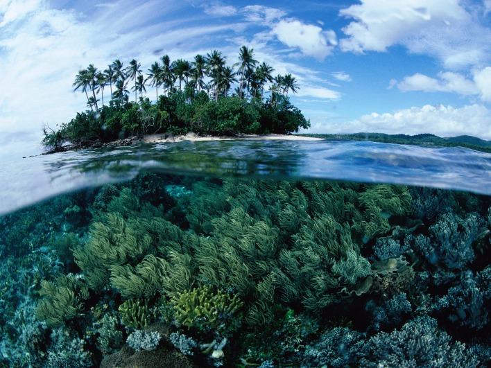 Split Island View, Papua New Guinea