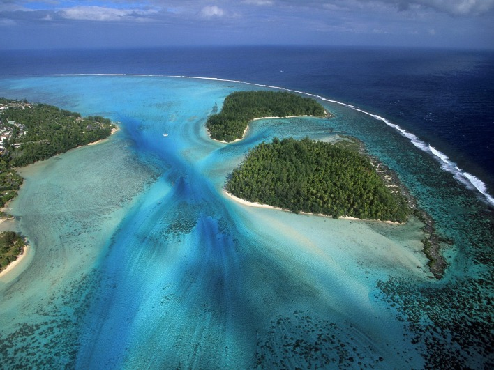Fluidity, Moorea Island From Above, French Polynesia