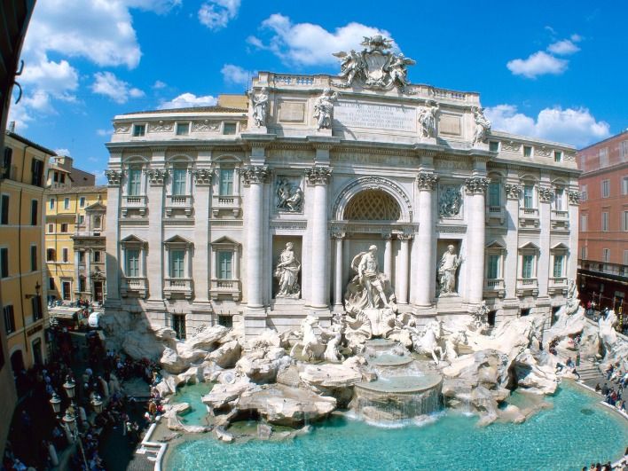 Trevi Fountain, Rome, Italy (Фонтан, Италия Рим)
