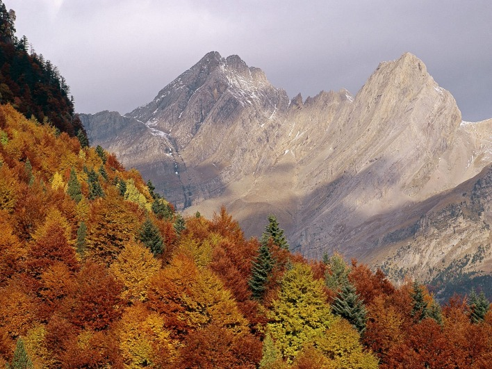 Pyrenees Valley, Huesca Province, Aragon, Spain