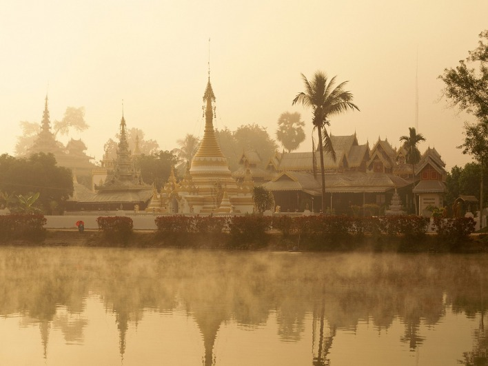 Wat Chong Kham, Mae Hong Son, Golden Triangle, Thailand