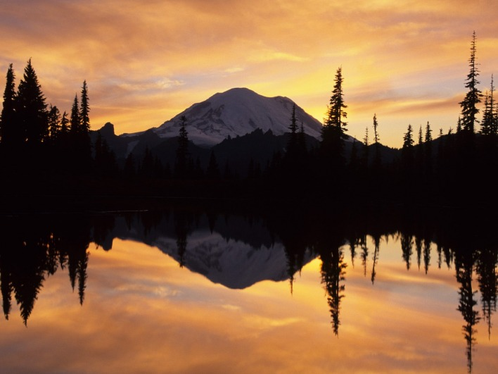 Mount Rainier and Tipsoo Lake, Washington