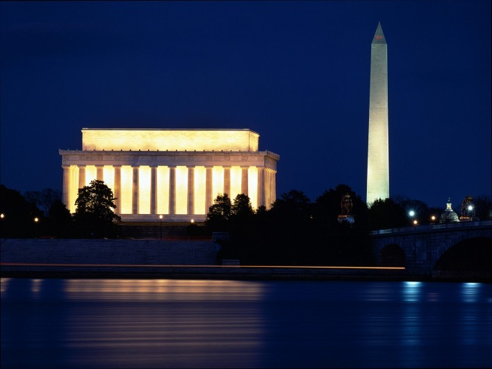 Lincoln Memorial and the Washington Monument, Washington, DC