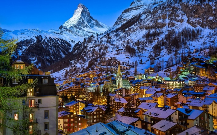 страны архитектура природа горы Церматт Швейцария country architecture nature mountains Zermatt Switzerland