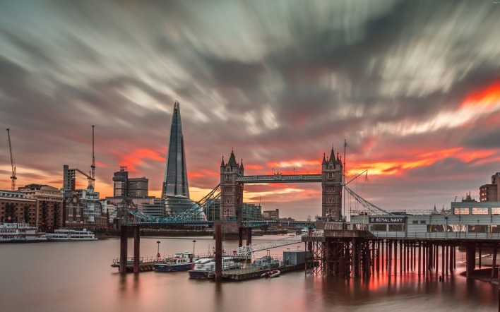 лондон закат река мост темза London sunset river the bridge Thames
