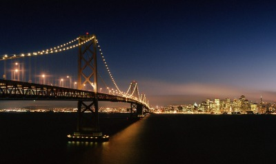 Evening Crossing, Bay Bridge, San Francisco, California