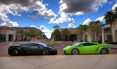 Lamborgini black and green