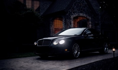 bentley, black
