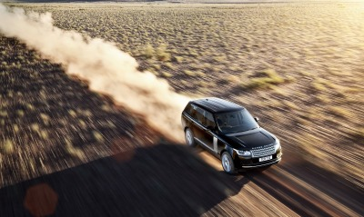 Range rover дорога пыль