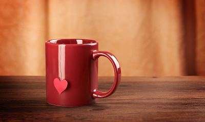 сердце чай кружка