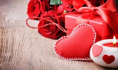 Сердце розы свечи подарок