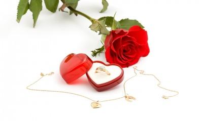 сердце роза кулон