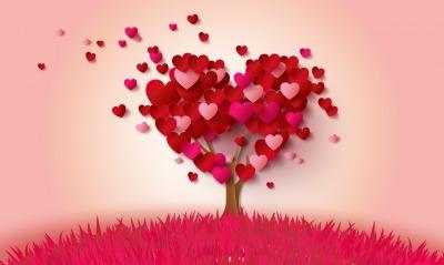 сердечки дерево