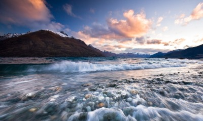 Sunset near Queenstown, New Zealand
