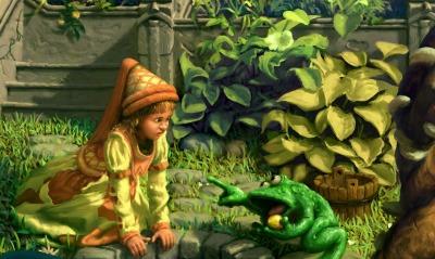 рисунок лягушка девочка