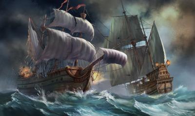графика корабли шторм