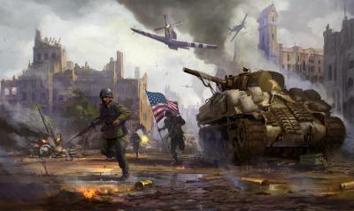 графика рисунок армия оружие танк США самолеты sherman