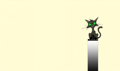 графика рисунок кот