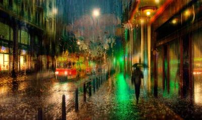 графика рисунок город вечер страны архитектура graphics figure the city evening country architecture