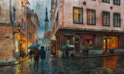 Таллин Эстония улочка
